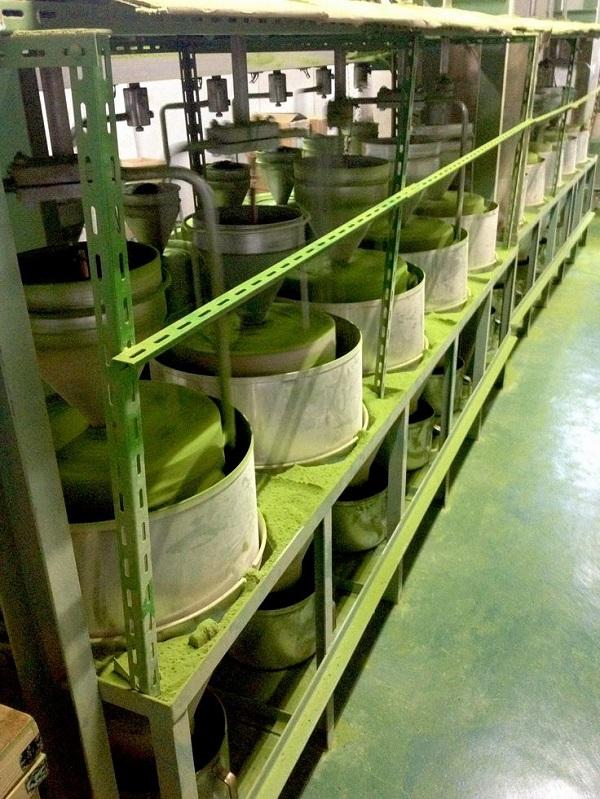 Production process of matcha green tea